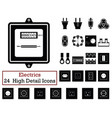 set of 24 electrics icons vector image vector image