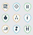 set of 9 executive icons includes decision making vector image vector image