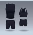 set of sport wear vector image vector image