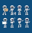 set of various robots activity vector image vector image
