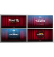 set stand up and theater banners red curtains