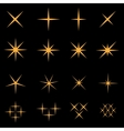 Sparkles icon set vector image