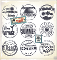 Summer vacation grunge rubber stamp vector image vector image