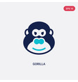 two color gorilla icon from africa concept vector image vector image