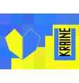Ukraine flag in polygonal style vector image vector image