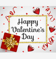 valentines day card vector image vector image