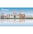 Venice Skyline Silhouette with Gray Buildings vector image