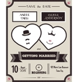 Wedding invitation Vintage card the template vector image