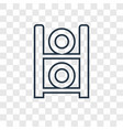 weights concept linear icon isolated on vector image