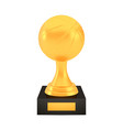 winner basketball cup award on stand with empty vector image vector image