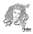zodiac of sagittarius as girl with vector image vector image