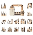 Industrial objects flat color icons vector image