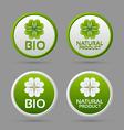 Bio and natural product badge icons vector image