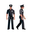 policeman in american cop uniform vector image
