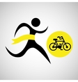winner silhouette sport cyclist icon vector image