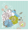 abstract cute floral decorative card vector image