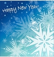 Beautiful background with snowflakes vector image vector image