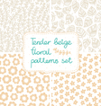 Beige patterns set vector image vector image