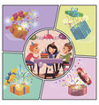 birthday party colorful concept vector image