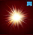 bright fiery starburst light effect vector image