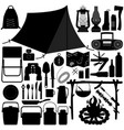 camp camping picnic recreational tool a set of vector image