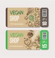 cardboard coupon set vector image vector image
