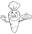 Cartoon carrot vector image vector image