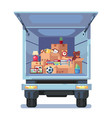 cartoon style of truck with vector image vector image