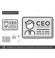 CEO business card line icon