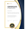 certificate template diploma modern design vector image vector image