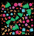 christmas new year memphis pattern with bells vector image