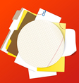 Circular background of an office stuff vector image vector image