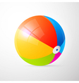 Colorful Beach Ball Isolated on Light Grey vector image vector image
