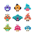 Colourful Cute Birds Set vector image vector image