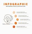 creative creativity head idea thinking vector image