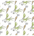 crispy carrot and green leek seamless pattern vector image vector image