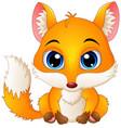 cute baby fox cartoon vector image