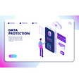 data protection isometric concept personal vector image vector image