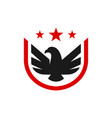 eagle bird animal shield logo vector image vector image