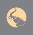 elephant sign logo emblem -04 vector image