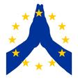 European pray vector image vector image