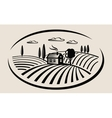 farm and field vector image vector image