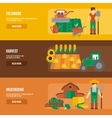 Farmer land flat banners set vector image