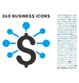 financial relations icon with flat set vector image vector image