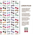 flat poster or banner template with eyeglasses vector image vector image