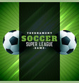 football poster design green background vector image vector image