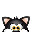 funny cat peeking out from the bottom edge vector image