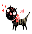 funny kitten vector image vector image