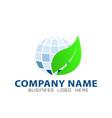 globe green eco concept vector image