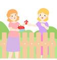 good relationship of neighbor xaxa vector image